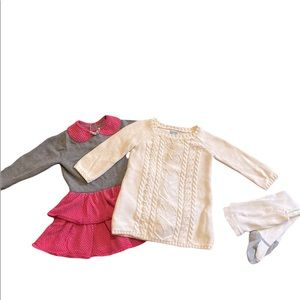 Girls Lot of Two Sweater Dresses 12-18 Months